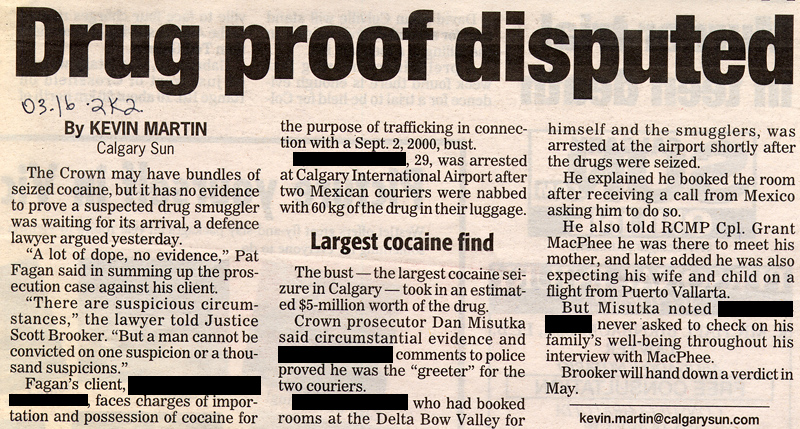 Drug proof disputed